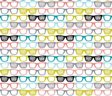 colorful glasses fabric by katarina on Spoonflower - custom fabric