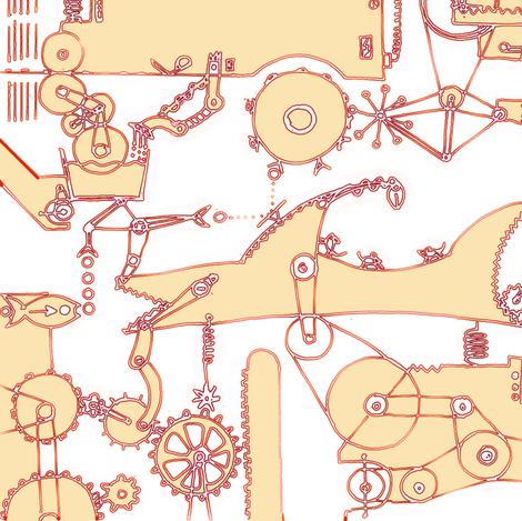 brain_detangeling_machine fabric by johanna_design on Spoonflower - custom fabric