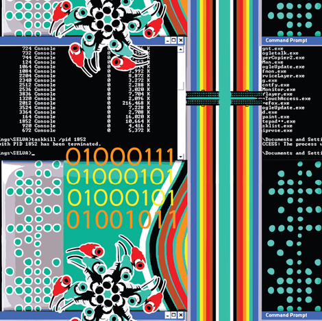 Geek Chic 1 fabric by susiprint on Spoonflower - custom fabric