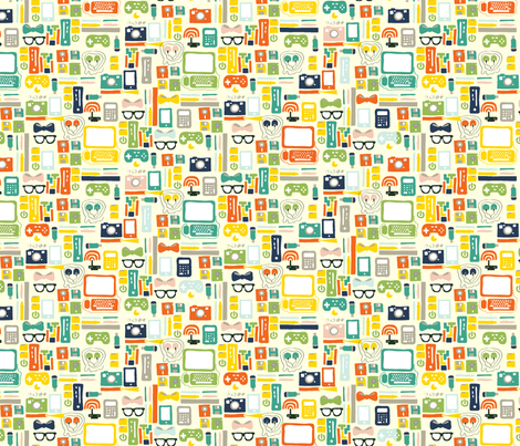 geekchic fabric by nat_olly on Spoonflower - custom fabric