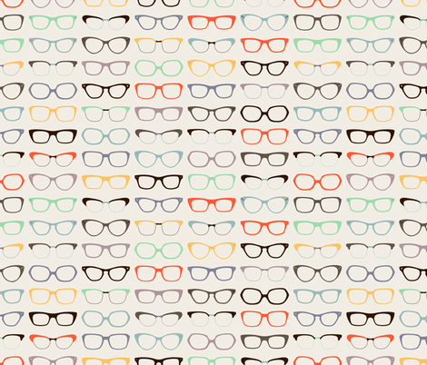 Geek Chic Glasses fabric by zesti on Spoonflower - custom fabric