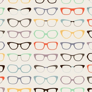 Geek Chic Glasses wallpaper - zesti - Spoonflower