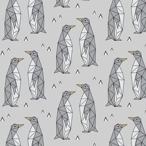 Geometric Penguins Gray (Small)