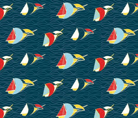 Yacht Race fabric by creative_merritt on Spoonflower - custom fabric