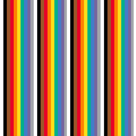 Geek Stripes Ribbon Cable fabric by susiprint on Spoonflower - custom fabric