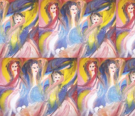 sleepy dancers fabric by myartself on Spoonflower - custom fabric
