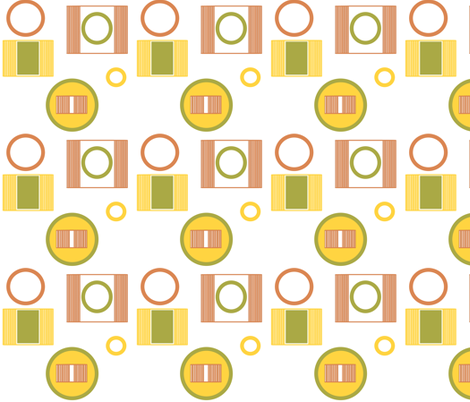 Three C's in a Mod fabric by kamilindoto on Spoonflower - custom fabric