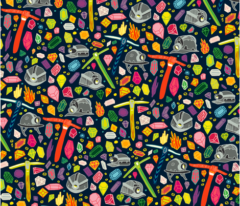 KValente_MiningPattern fabric by kevinvalente89 on Spoonflower - custom fabric