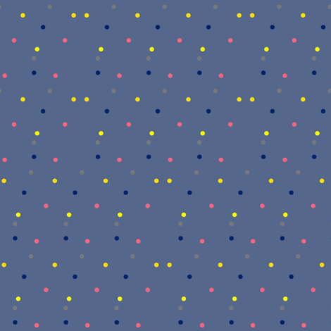 Colorful Dots on Slate Blue fabric by bohobear on Spoonflower - custom fabric