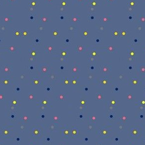 Colorful Dots on Slate Blue