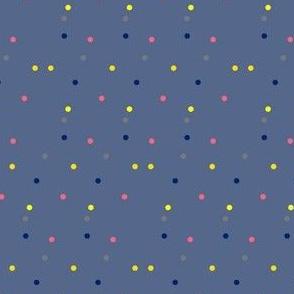 Colorful Dots on Slate Blue