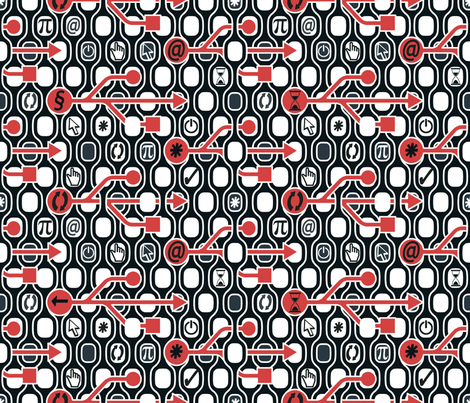 Geek Chic Spirit fabric by chicca_besso on Spoonflower - custom fabric