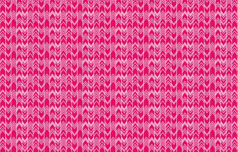 Fuchsia Ikat Ziggy - Chevron Herringbone  fabric by modfox on Spoonflower - custom fabric