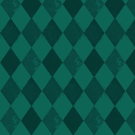 Bohemian Cirque | Green Harlequin Diamond fabric by bohobear on Spoonflower - custom fabric