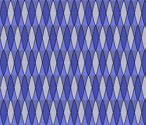 Diamond pattern in blue fabric by martaharvey on Spoonflower - custom fabric