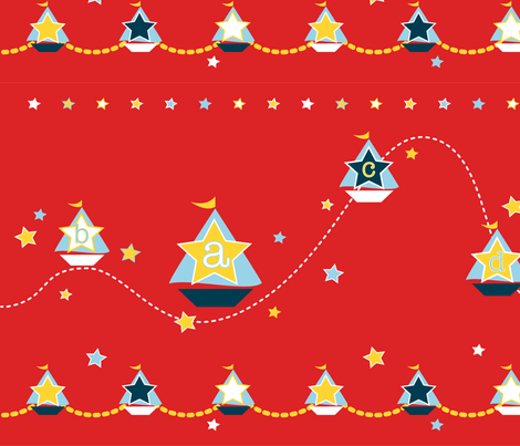 Sailing ABC fabric by artsycanvasgirl on Spoonflower - custom fabric