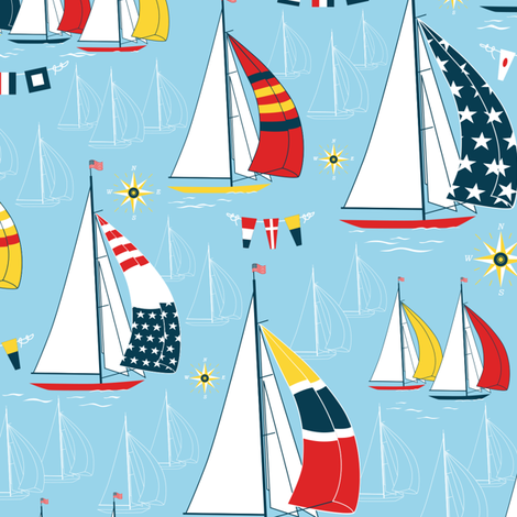 Sailing fabric by jillbyers on Spoonflower - custom fabric