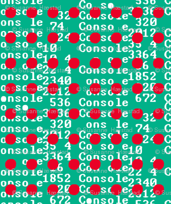 Unicode red dots on green