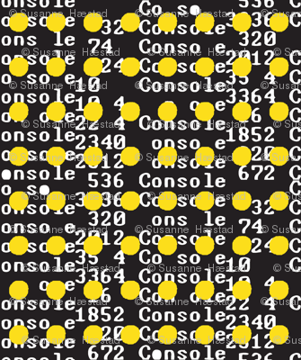 Unicode yellow on black