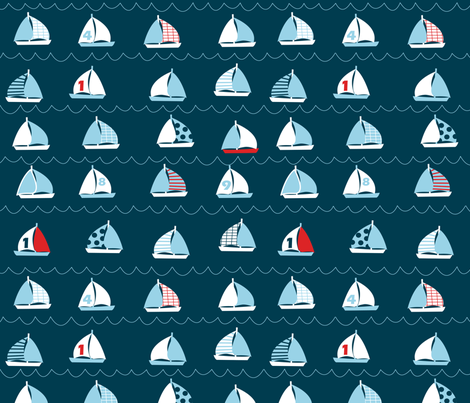 boats love to sail fabric by ellila on Spoonflower - custom fabric