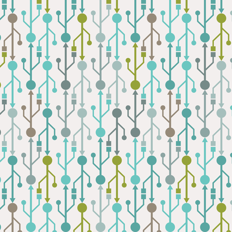 USB Blue fabric by ebygomm on Spoonflower - custom fabric