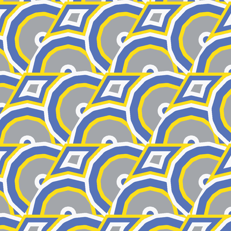 Geek Geek Chic grey fabric by susiprint on Spoonflower - custom fabric