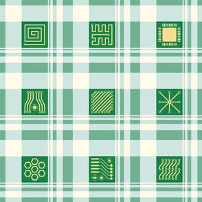 PCBs and Fibonacci Plaid