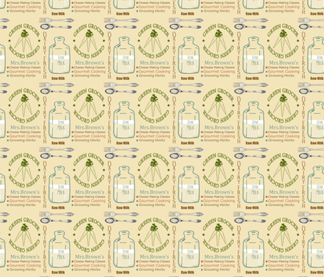 Mrs. Brown's fabric by lana_gordon_rast_ on Spoonflower - custom fabric