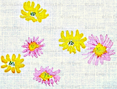 Lovely Linens (Yellow, Pink & White)