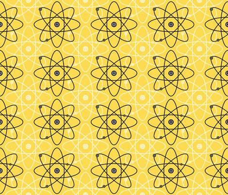 Atom-ized ~ Yellow fabric by retrorudolphs on Spoonflower - custom fabric