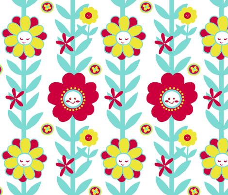 Happy Mod Flowers fabric by aimee on Spoonflower - custom fabric