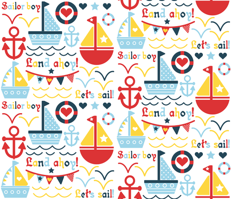 Land Ahoy!!! fabric by jlwillustration on Spoonflower - custom fabric