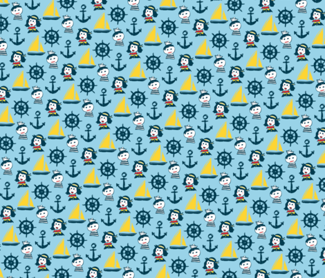 He Gets Seasick fabric by zaharamh on Spoonflower - custom fabric