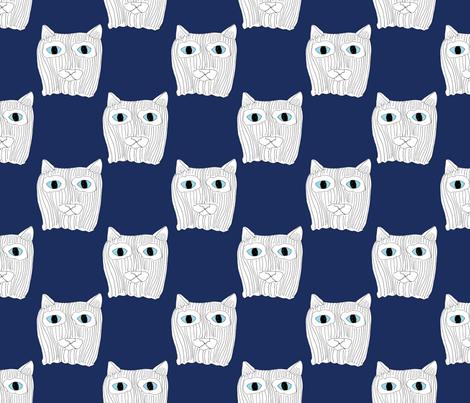 ninja cat fabric by chewytulip on Spoonflower - custom fabric