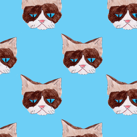 grumpycat fabric by chewytulip on Spoonflower - custom fabric