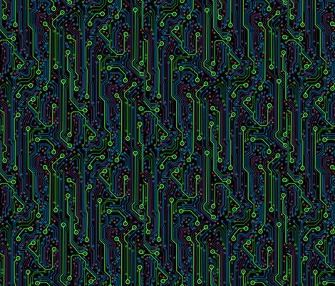 CircuitBoard_Blk150 fabric by mjmontana on Spoonflower - custom fabric