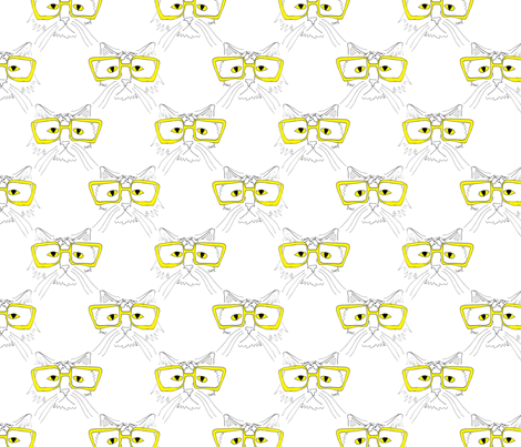geeky cat fabric by chewytulip on Spoonflower - custom fabric