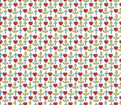 Faith, Hope & Charity fabric by pixeldust on Spoonflower - custom fabric