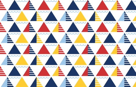 GeometricSails fabric by ariel_lark_designs on Spoonflower - custom fabric