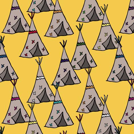 Teepee City fabric by pond_ripple on Spoonflower - custom fabric
