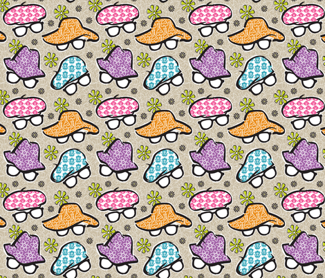 Geek Chapeau Larger Scale fabric by gitchyville_stitches on Spoonflower - custom fabric