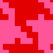 Houndstooth GIANT red and hot pink