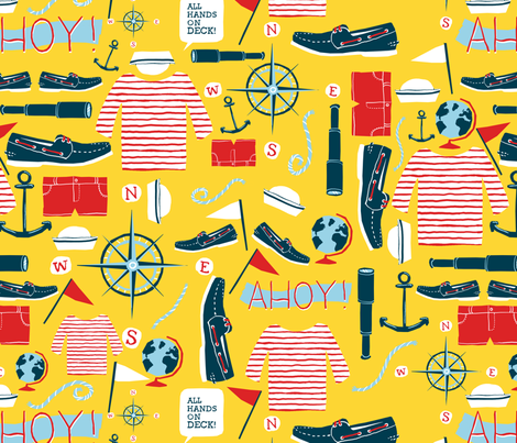 sailing pattern fabric by alex_lasher on Spoonflower - custom fabric
