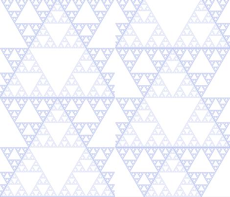 sierpinski triangles fabric by evelynjlamb on Spoonflower - custom fabric