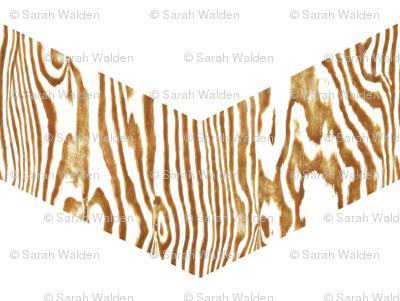 Chevron Safari ~ Gold & White  Zebra Wood