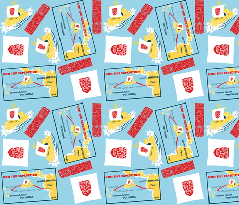 kon tiki expedition fabric by eric_october on Spoonflower - custom fabric