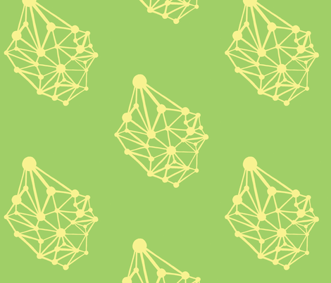 network-lemon lime fabric by kcs on Spoonflower - custom fabric