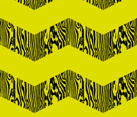 Chevron Safari ~ Black and Chartreuse Zebra fabric by peacoquettedesigns on Spoonflower - custom fabric
