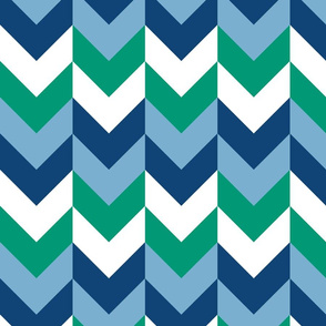 Chevron Offset - Ocean