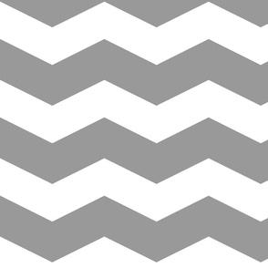 Modern Cottage ~ Chevrons ~ Grey & White
